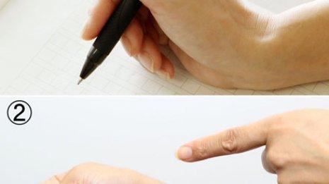 親指を伸ばして箸やペンを握ると…ツラい関節障害を招く