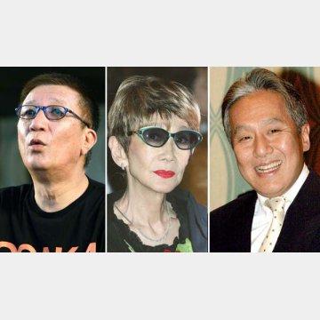 左から、やしきたかじん、淡路恵子、中村勘三郎も愛煙家だった