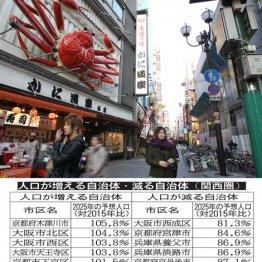 大阪市の人口は天王寺市を境に明暗が分かれる