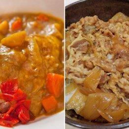 カレー vs 牛丼