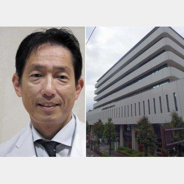JCHO東京新宿メディカルセンター(右)と糖尿病内分泌内科の関根信夫院長