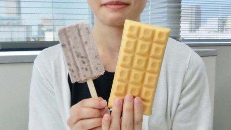 脂肪分少なめ アイスを食べるならモナカよりもあずきバー