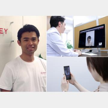 オンライン診療アプリ「クリ二クス」(左は豊田剛一郎医師)