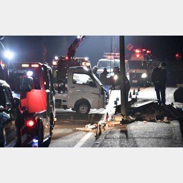 1月に岡山で起きた事故現場