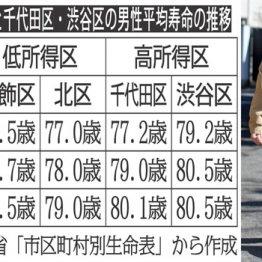 葛飾vs千代田 景気と平均所得・平均寿命格差の関係
