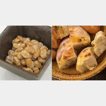 納豆とチーズを朝食に