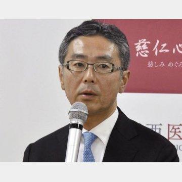 膵がん治験費をネットで調達、記者会見する関西医科大の里井壮平教授