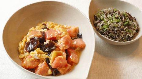 【トマトと卵との炒め煮】ビタミンDとカルシウムの最強コンビで骨粗しょう症予防