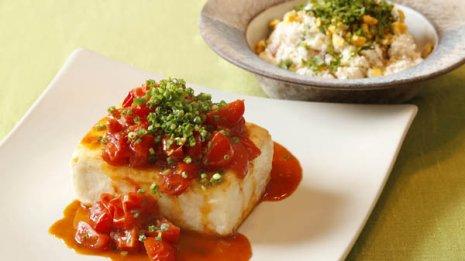 木綿豆腐は水切りのひと手間で塩分を控えて味と食感アップ