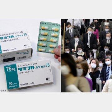 パンデミック(右、2009年当時)以降、薬が効きにくいタイプのウィルスが…
