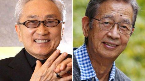 小説家のなかにし礼さん(左)や俳優の村野武範さんも完治