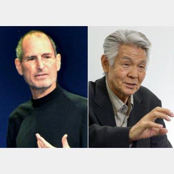 スティーブ・ジョブズ(左)と菅原文太