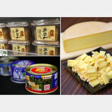 味噌、チーズ、サバ缶で