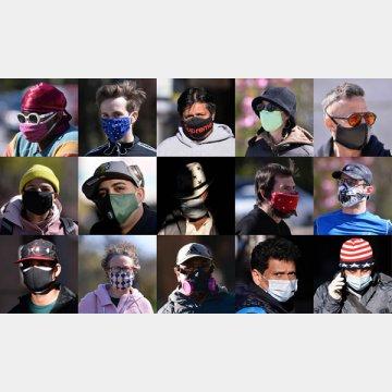 健康者がマスクをつける習慣のなかった米国でも、日常でマスクを着用するニューヨーカーたち