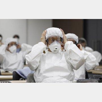 東京都医師会が医師向けの訓練を実施