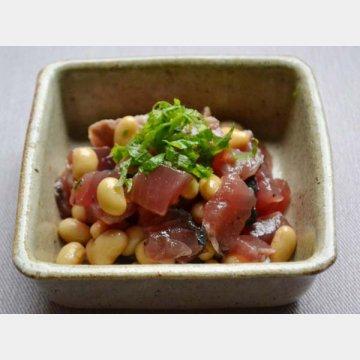 カツオと大豆のスモーキーサラダ