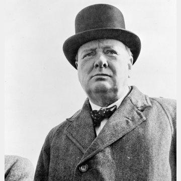 息子のウィンストン・チャーチル元首相